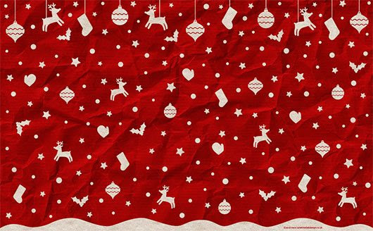 Christmas wallpaper by Sarah-Hextall-Design