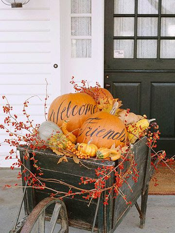 fun fall porch