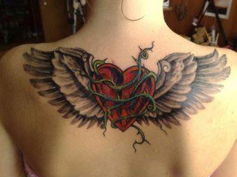 Corazones Con Alas Tatuajes