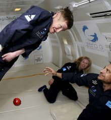 Stephen Hawking hopes his weightless flight will lead to a suborbital flight some time in the future.