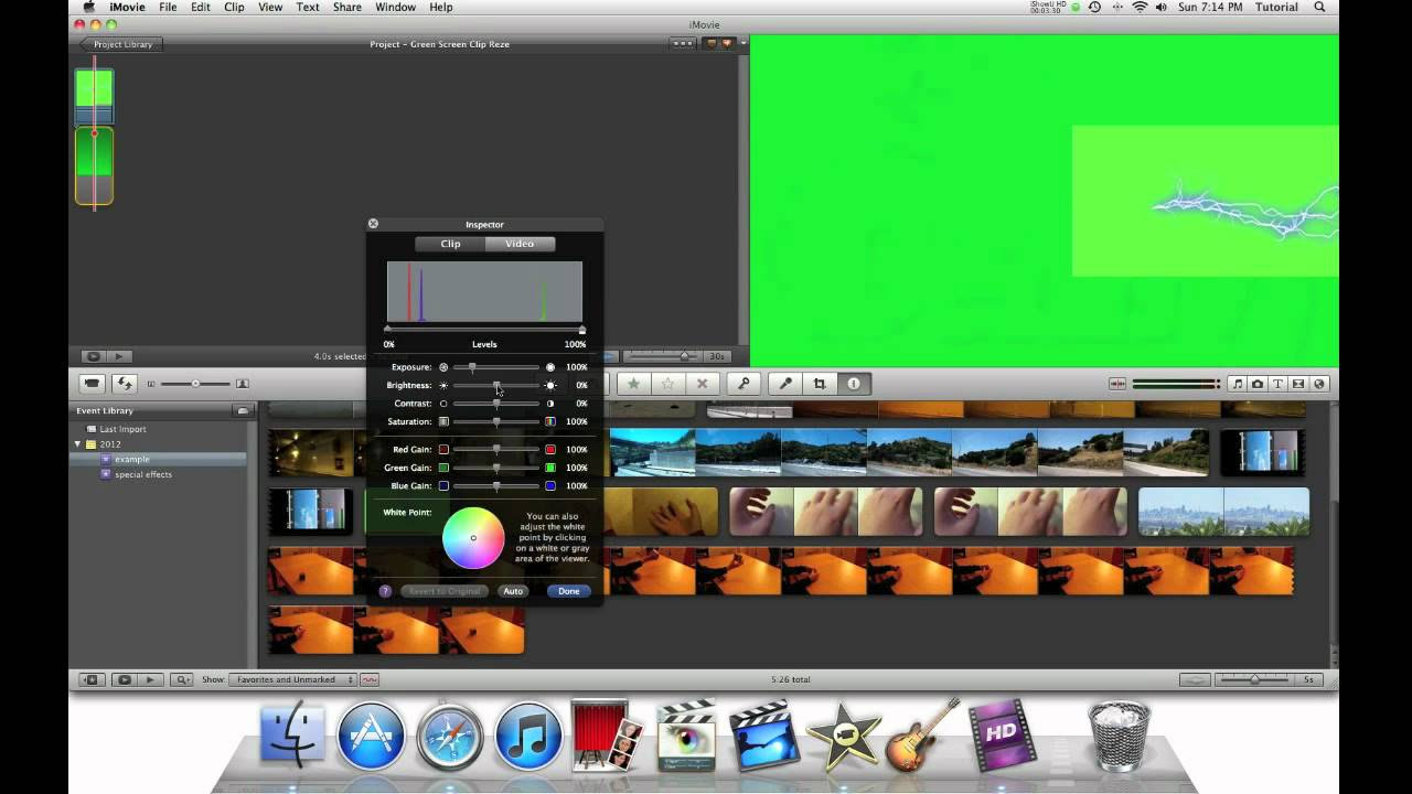 iMovie 11 Special Effects - Repostioning a Green Screen ...