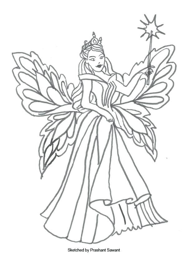 Winter Fairy Coloring Pages at GetColorings.com | Free ...
