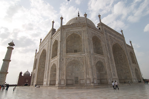 Taj Mahal one corner