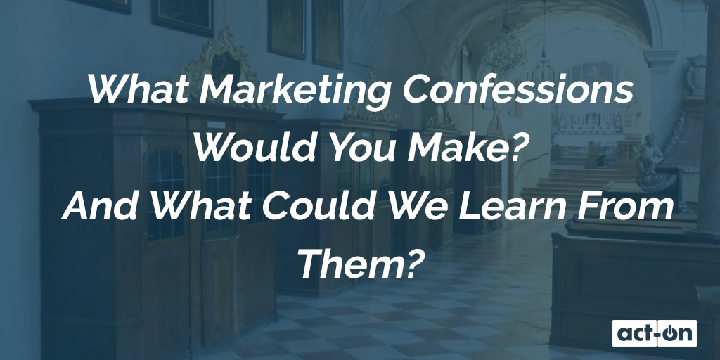 This infographic asks the question what confessions would you make as a digital marketer, and what could others learn from them. This article has seven confessions and corresponding takeaways.