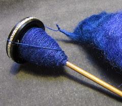 blue spinning