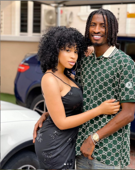 Lovely new photos of footballer Peter Olayinka and his fiancee, actress Yetunde Barnabas?