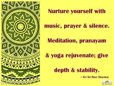 Quote On Meditation By Sri Sri Ravi Shankar