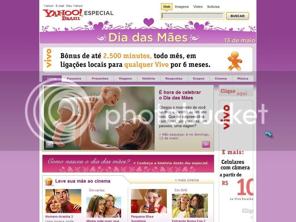 Dia das Mães do Yahoo!