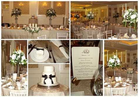 Vintage Wedding Reception Decorations black and champagne