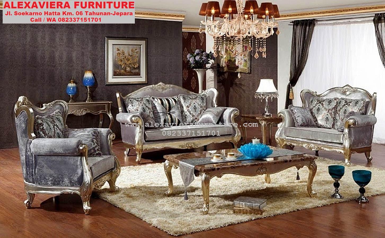 Kursi Sofa Ruang Keluarga Klasik Terbaru KT 053 Sofa Ruang Tamu