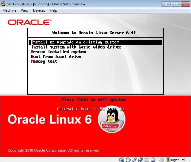 Oracle 12c on VMWare