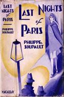 Last Nights of Paris by Philippe Soupault
