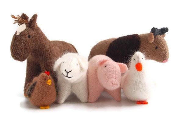 Farm animals, waldorf farm animals, eco friendly farm animals