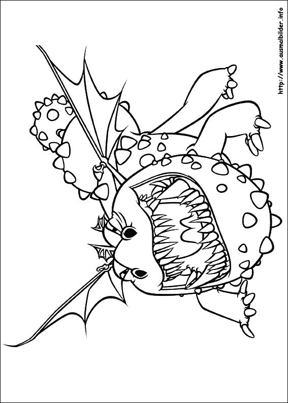 Ausmalbilder Dragons Calendar June