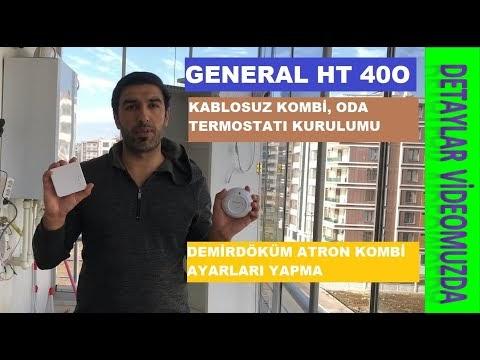 GENERAL LİFE HT 400 Kablosuz Akılı Kombi Kiti, Wifi Oda Termostatı kurumu