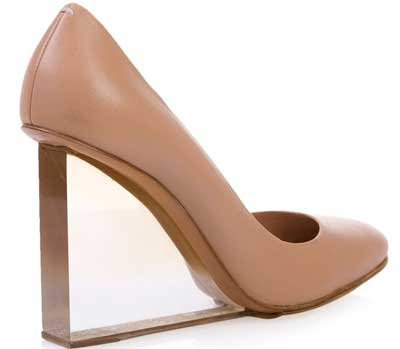 martin margiela transparent Martin Margiela transparent heel wedge shoes