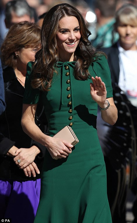 The Duchess of Cambridge looked radiant as she stepped off the plane in Kelowna, western Canada, on Tuesday