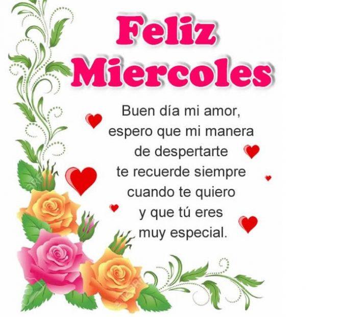 Buen Dia Mi Amor Y Feliz Miercoles Imagenesdebuenosdias Es