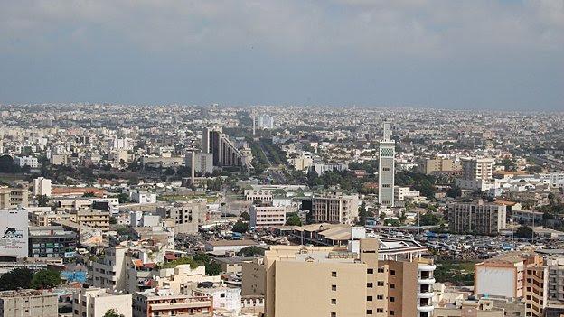 Wide view of Dakar
