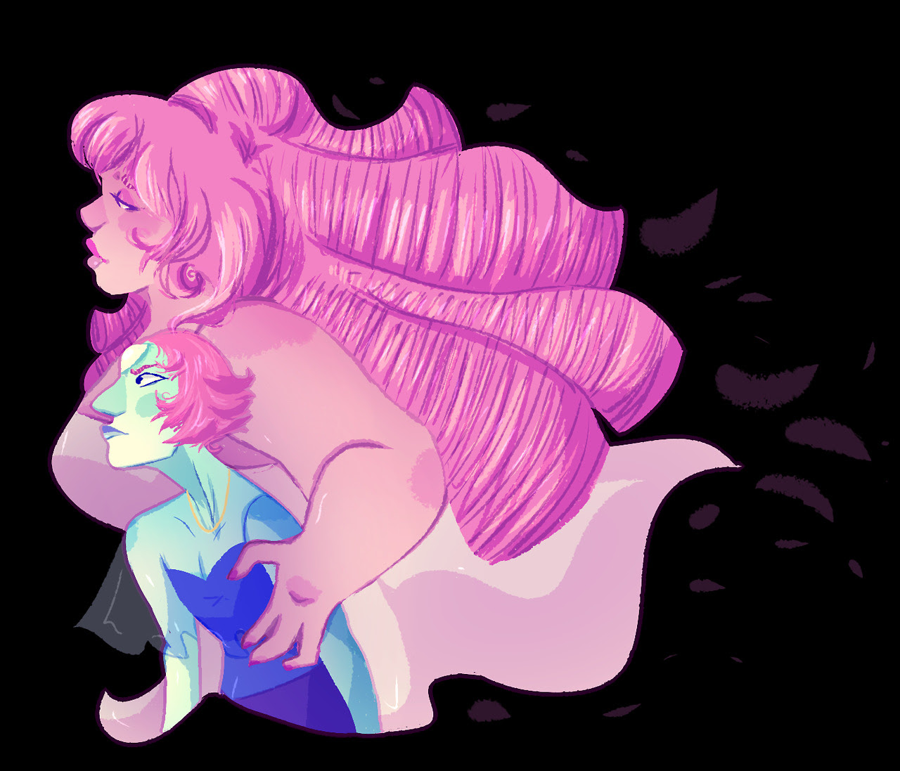 The Villainous Rose Quartz….. and her infamous Renegade Pearl Redraw of this…