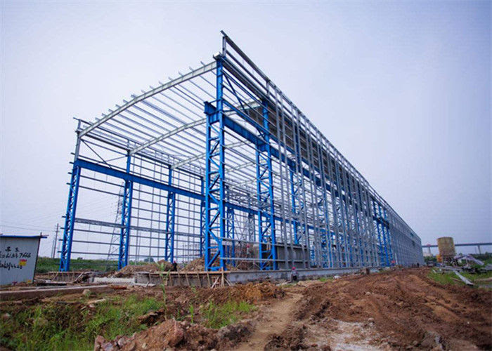 Portal Frame Struktur Baja Prefabrikasi Desain Gudang Rekayasa Fabrikasi