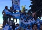 'Invasão' argentina causa tumulto em Copacabana (Matheus Rodrigues/ G1)