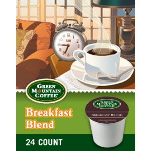Green Mountain Breakfast Blend Keurig Kcup coffee