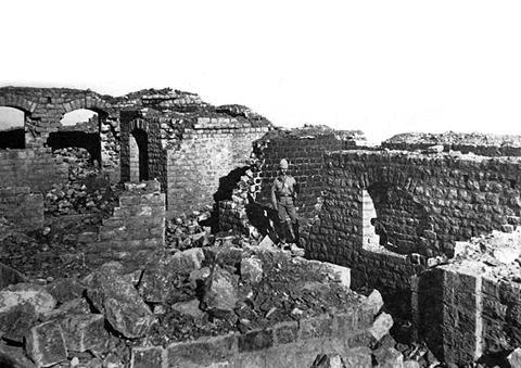 Ruinas de Saragarhi el 14 de septiembre