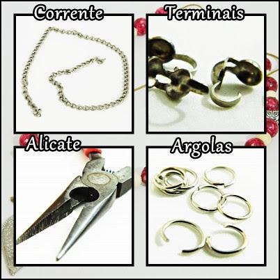 juliana leite faça seu proprio maxi colar DIY faça você mesma vermelho acessório da moda bijuteria transforme seu colar em maxi colar