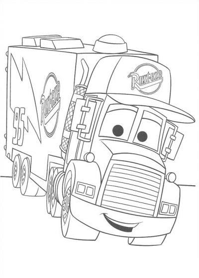 Dibujo De Camión De Cars Dibujo Para Colorear De Camión De Cars