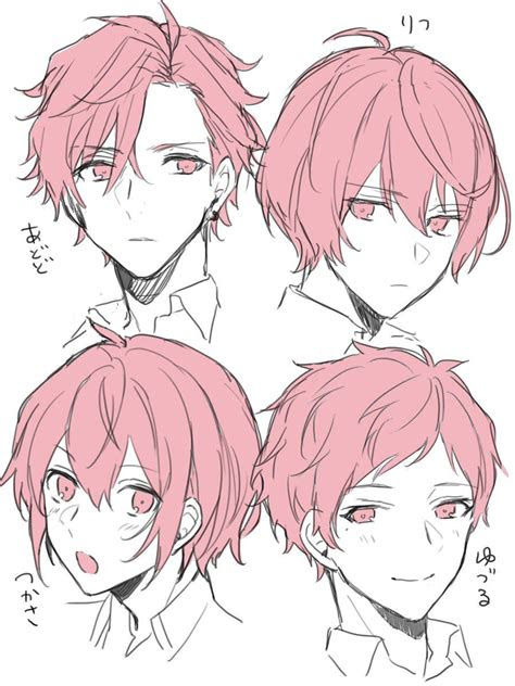 male hairstyles aniki drawings   draw hair anime