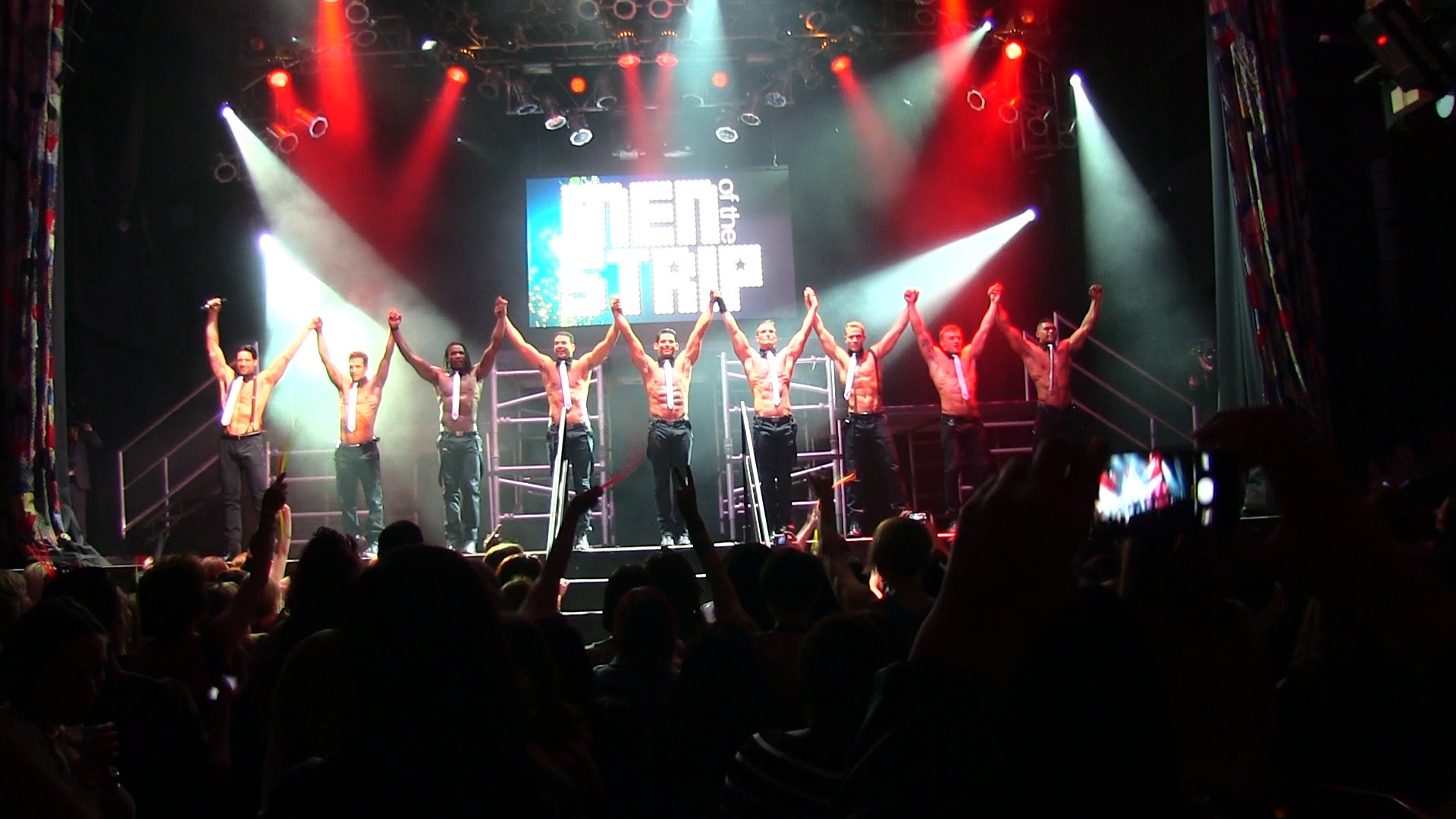 "Jeff Timmon and  ""Men of the Strip"" perform at House of Blues at Mandalay Bay in Las Vegas on March 29."
