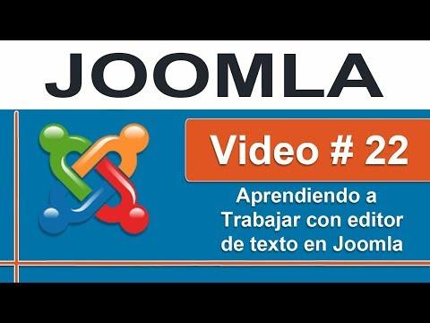 Instalando un editor de texto enriquecido JCE Editor para Joomla