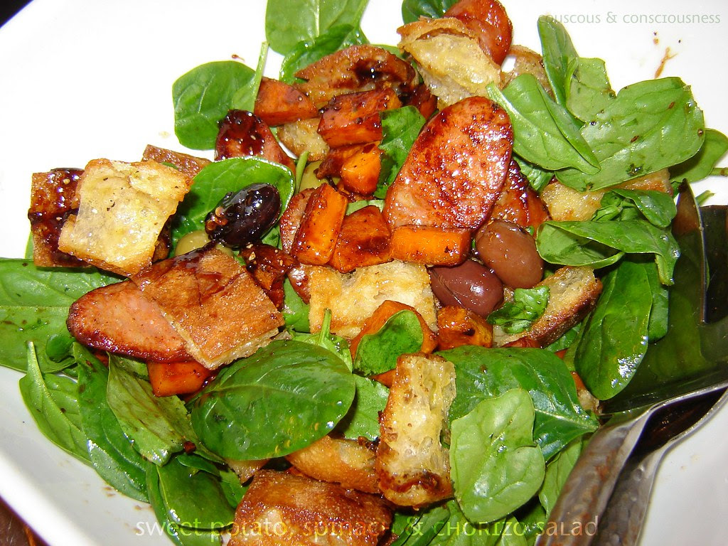Sweet Potato Spinach & Chorizo Salad 2, edited