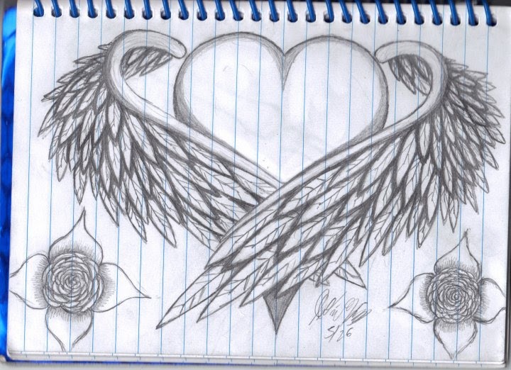 Heart With Wings Drawing At Getdrawingscom Free For Personal Use