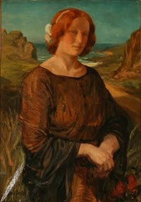 portrait of a woman at the sea by gudmund herman peter hentze