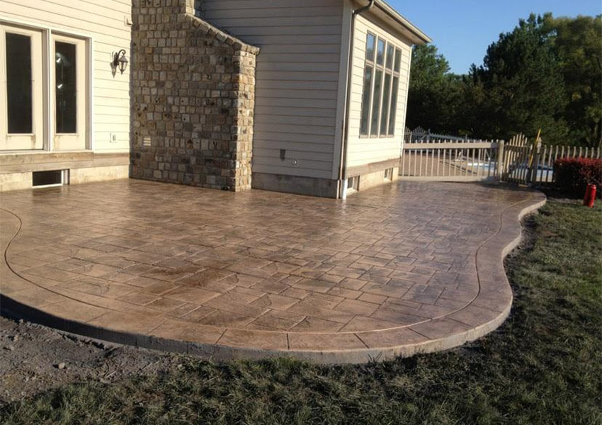 Stamped Concrete Patios: A Better Backyard Upgrade ...