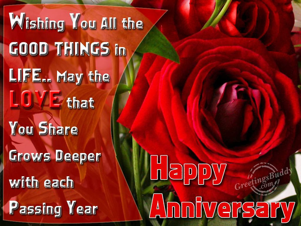 Wishing You A Very Happy Wedding Anniversary Greetingsbuddycom