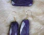 Suglite Earrings and Pendant Set 14kt gold filled