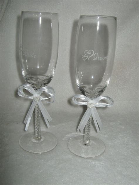 wedding bridal supplies bride  groom champagne toasting