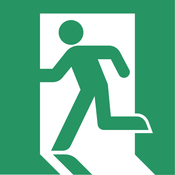 'Running Man' Emergency exit symbol (ISO 7001)