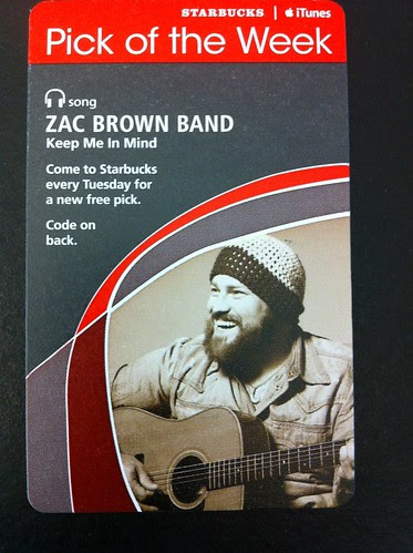 Starbucks iTunes Pick of the Week - Zac Brown - Keep Me In Mind