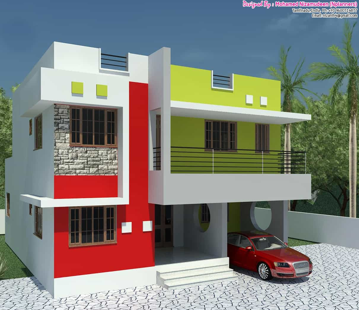 Affordable Basic 3bhk Home Design At 1300 Sq Ft