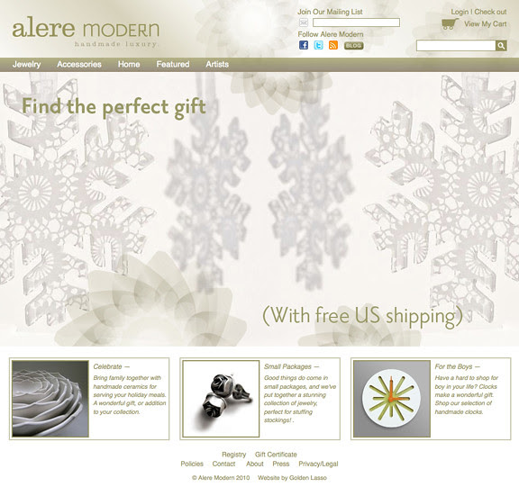 alere modern home page