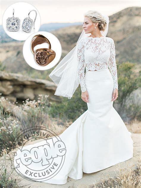 Morgan Stewart's Two Piece Wedding Dress Was an Accident