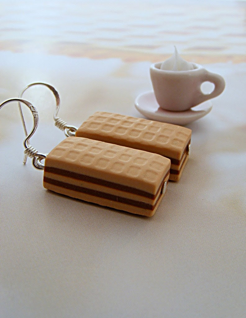 Wafer Candy Bar Earrings