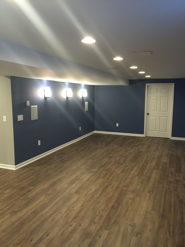 Sure Fix Remodeling Easton Pa Basement Remodel With Sherwin Williams Denim Color