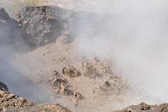San Jacinto, les volcan de boue, Hervideros