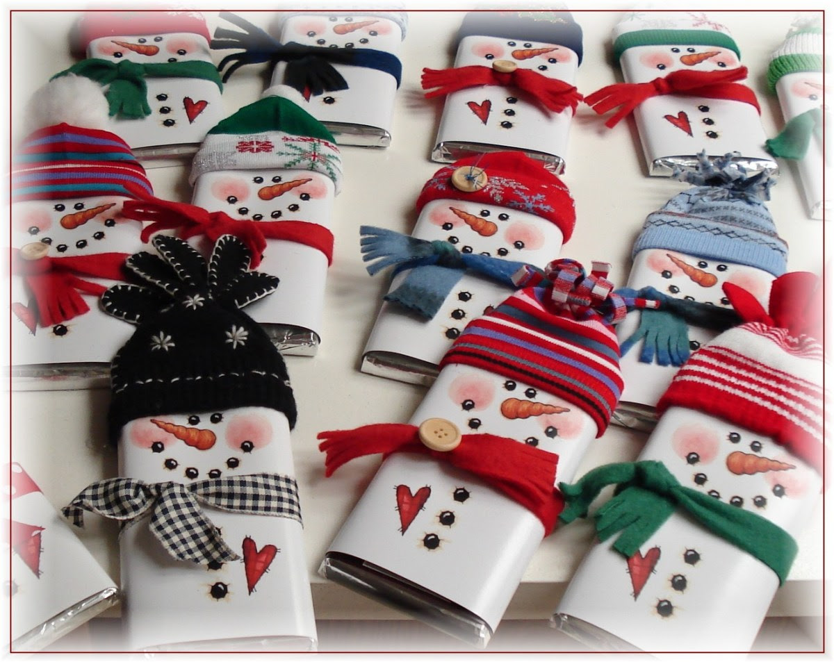 Printable Snowman Candy Bar Wrappers - Home and Garden