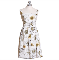 "Ruche ""Doodle All Day Floral Dress"""
